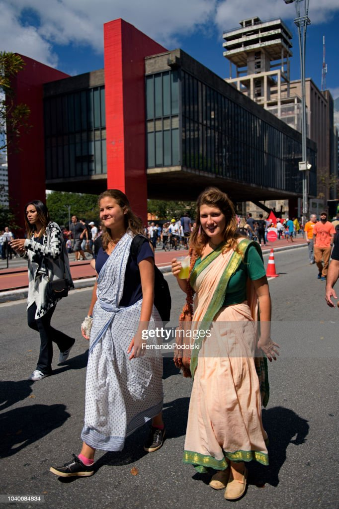 Women Wearing Sarongs, São Paulo - Brazil : Stock Photo