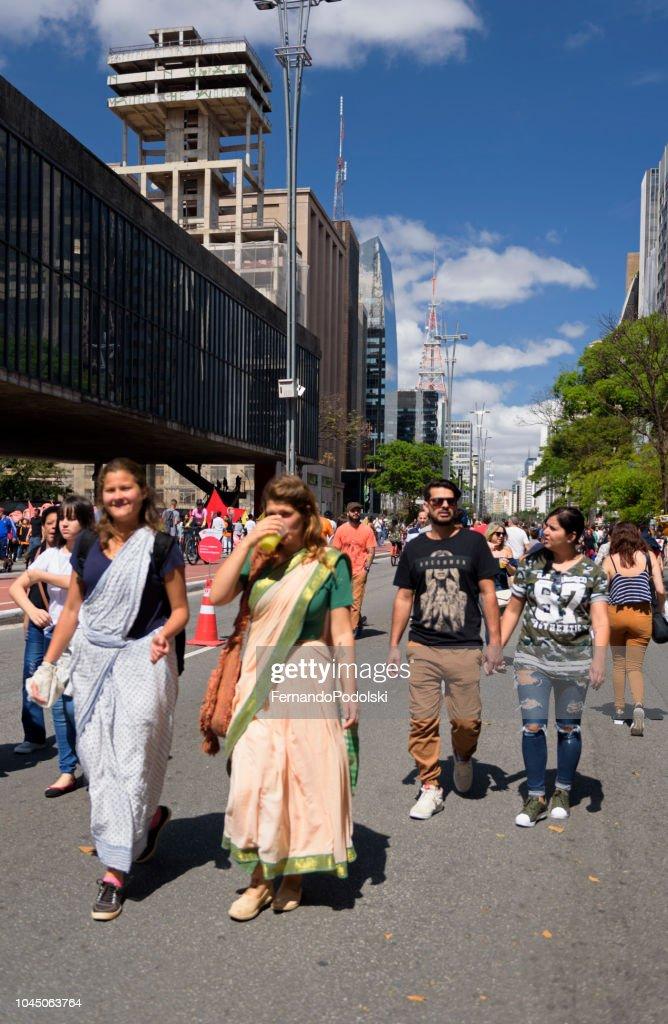 Women Wearing Sarongs, São Paulo - Brazil : Stock Photo