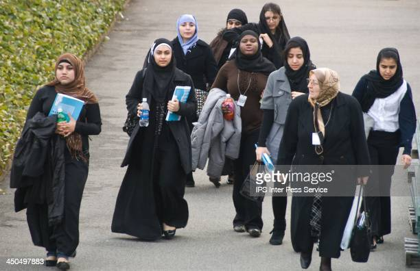 CONTENT] Women wearing the traditional Hijab attend the Commission on the Status of Women conference at UN headquarters in New York City CreditBomoon...