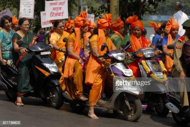 Women Wearing Traditional sarees for Gudi Padva Procession Thane Mumbai Maharashtra