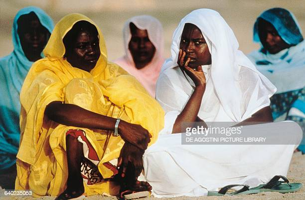 Women wearing typical clothes Lake Chad Chad