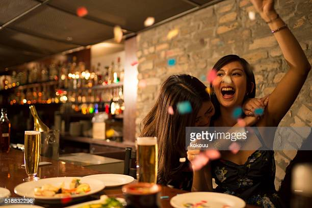 Women who are enjoying the party