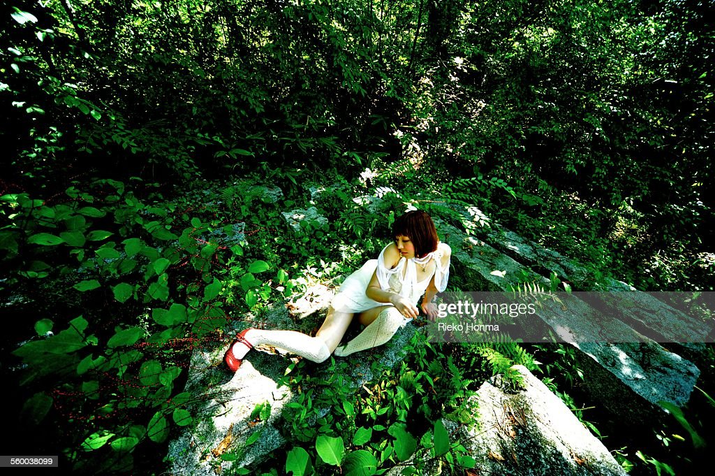 Women who are in nature : ストックフォト