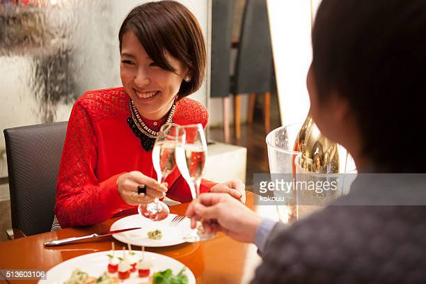 Women who have a lover and toast