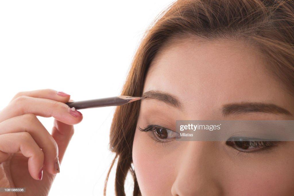 Women who make Makeup : Stock Photo