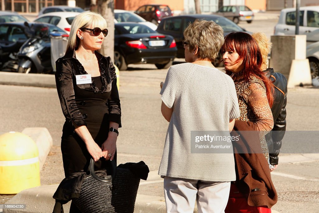 Women who received PIP breast implants arrive at the courthouse at Parc Chanot on April 18, 2013 in Marseille, France. Jean-Claude Mass and his PIP company are facing fraud charges for allegedly selling 30 000 faulty breast implants in France with non-autorised silicone gel that caused abnormally high rupture rates of its implants.5200 women complained against PIP.