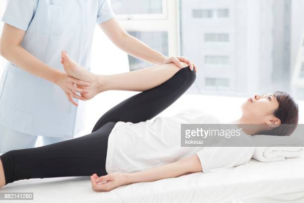 women who undergo foot operation. - hip replacement stock pictures, royalty-free photos & images