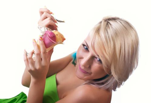 Women with ice-cream 152163832