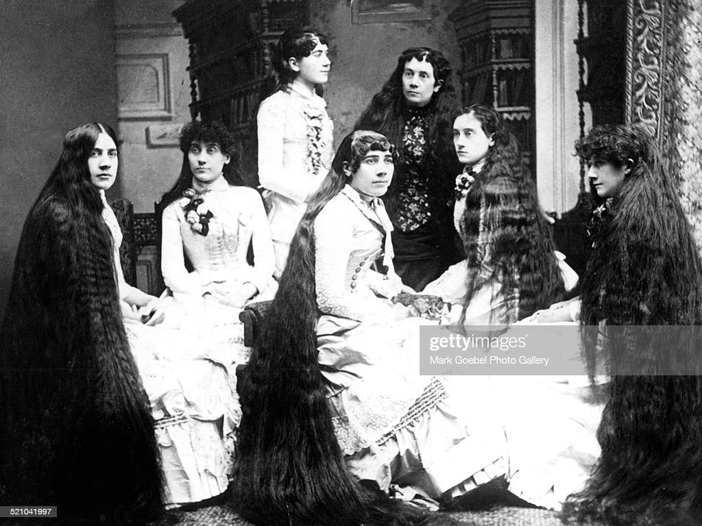 Women With Long Hair : News Photo