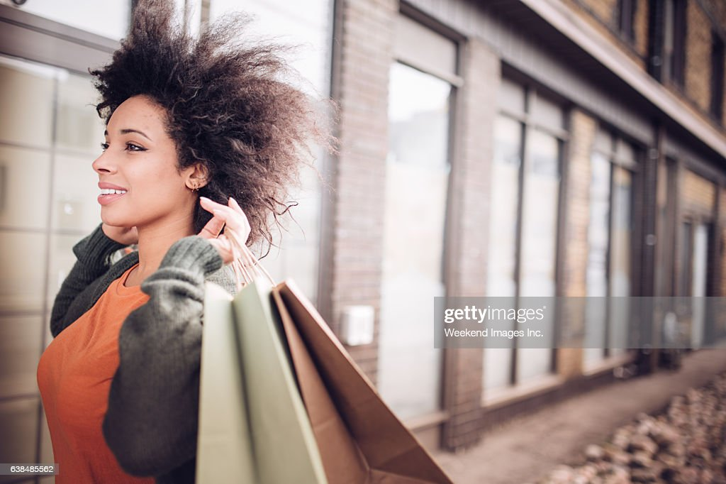 Women with shopping bags : Stock Photo