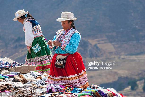 Women with traditional clothes in Colca valley