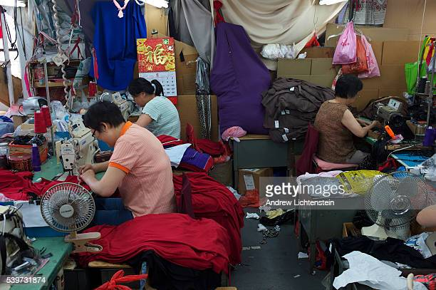 Women work in a sweatshop in Brooklyn The stretch of Third Avenue in Sunset Park Brooklyn is a neighborhood defined by the huge elevated traffic...