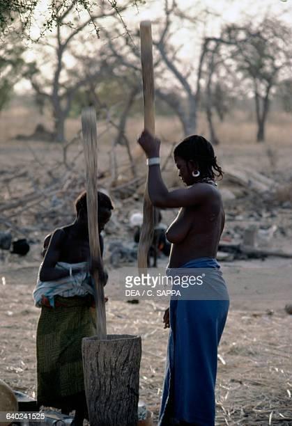 Women work near the monastery in Koubri Burkina Faso