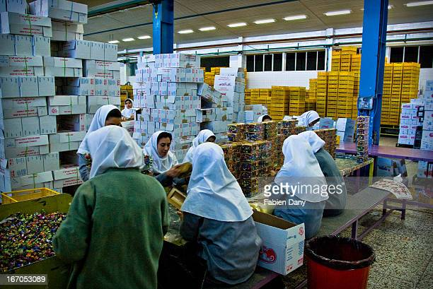 Women workers in a chocolate factory, Tabriz.