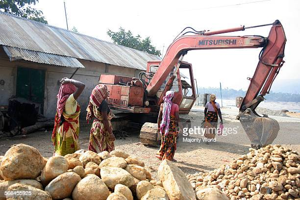 Women working at a stone crushing site in Jaflong Sylhet Bangladesh January 19 2010
