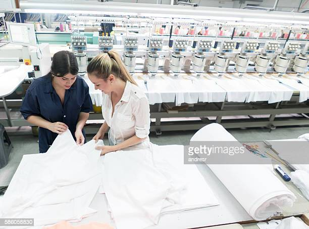 Women working at an embroidery factory