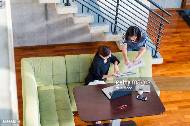 Women working at home