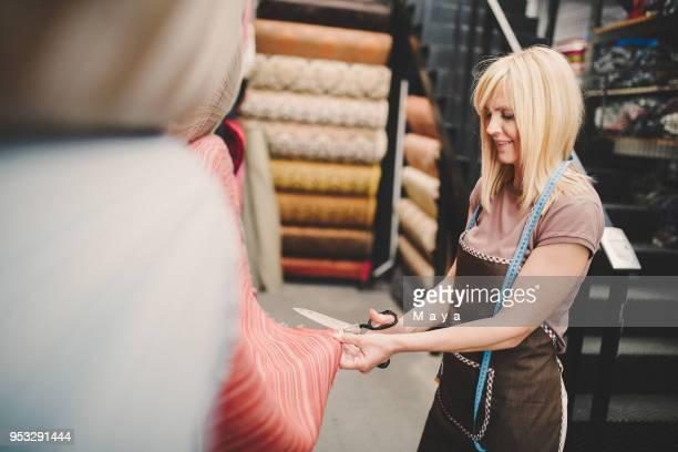 Women working at textil warehouse