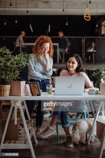 women working in modern office - employee engagement stock pictures, royalty-free photos & images