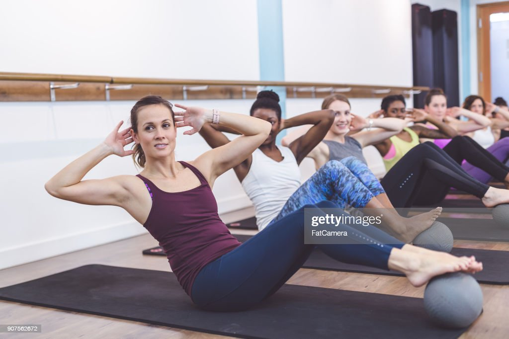 Women Working Out Together at Modern Gym : Stock Photo
