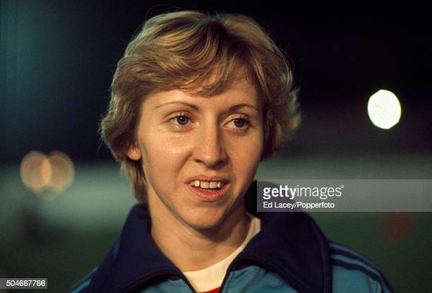 Women's 100 metres athlete Annegret Richter of West Germany during the Debenham's Games at Crystal Palace in London on 17th September 1976