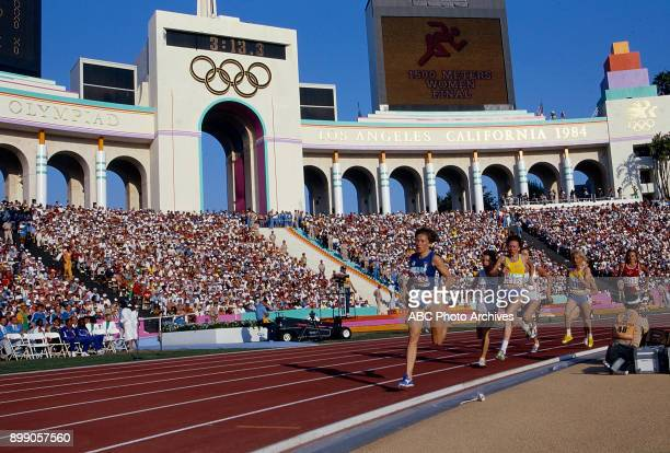 Women's 1500 Meter competition Memorial Coliseum at the 1984 Summer Olympics August 11 1984
