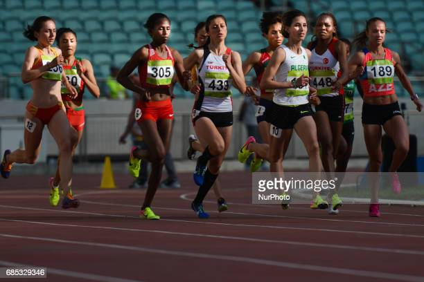 Women's 1500m final during day four of Athletics at Baku 2017 4th Islamic Solidarity Games at Baku Olympic Stadium On Friday May 19 2017 in Baku...