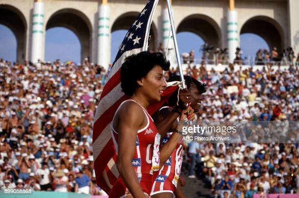 Women's 200 Meter competition Memorial Coliseum at the 1984 Summer Olympics August 8 1984