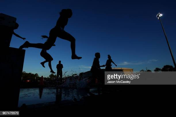 Womens 3000m Steeplechase during the Hunter Track Classic on January 20, 2018 in Newcastle, Australia.
