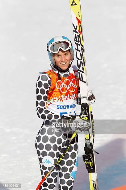 GAMES 'Women's Alpine Skiing Super Combined' Pictured Macarena Simari Birkner during the Women's Alpine Skiing Super Combined on February 10 2014...