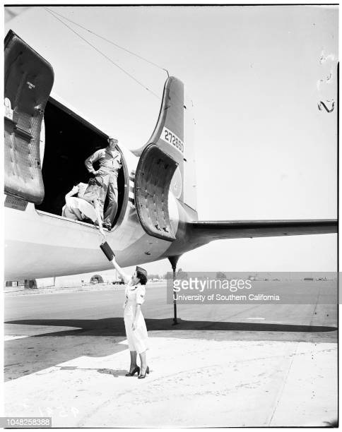 Women's Auxiliary Ferrying Squadron March Air Force Base 26 May 1952 Shirley Golden Julia Petrillo Bill Robardo Sally Caldwell Hattie Kirk 22...