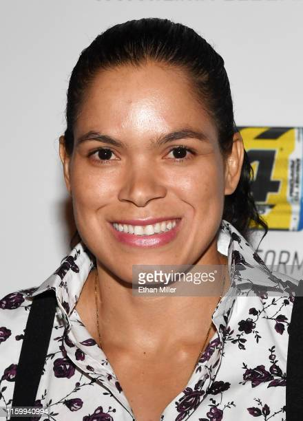 Women's bantamweight and featherweight champion Amanda Nunes attends the 11th annual Fighters Only World MMA Awards at Palms Casino Resort on July 3,...