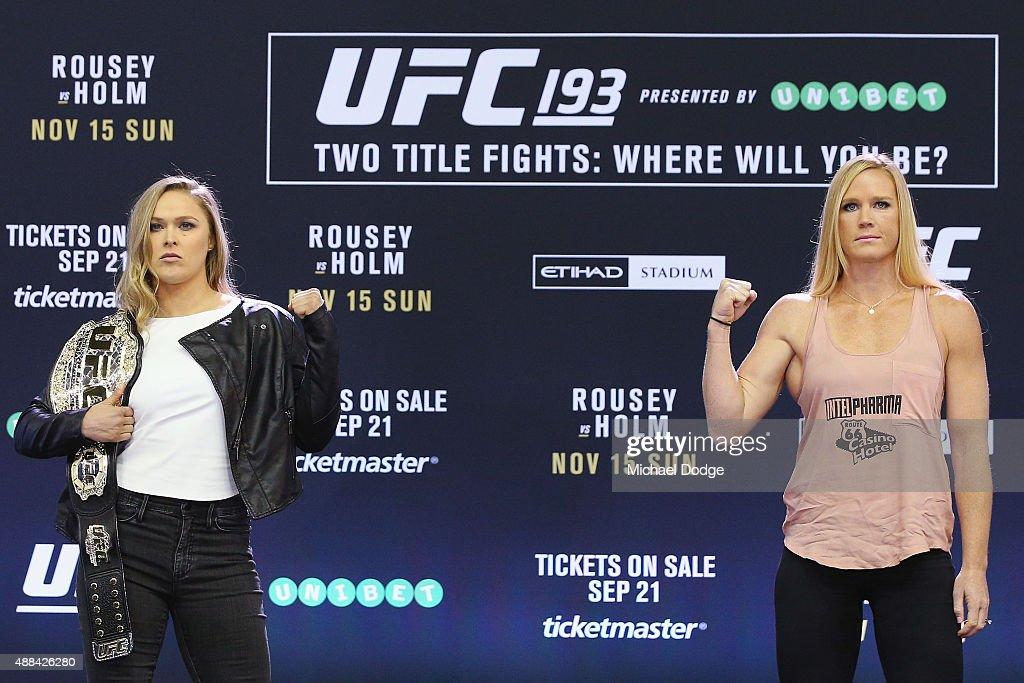 UFC 193 On-Sale Event : ニュース写真