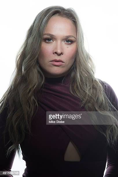 UFC women's bantamweight champion Ronda Rousey poses for a photo at the London NYC hotel ahead of UFC 193 on October 6 2015 in New York City