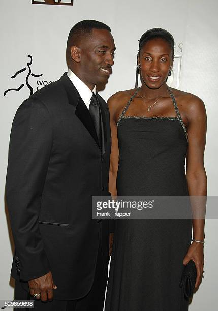 Women's Basketball champion Lisa Leslie and husband Michael Lockwood arrive at The Women's Sports Foundation Billie Awards held at the Beverly Hilton...