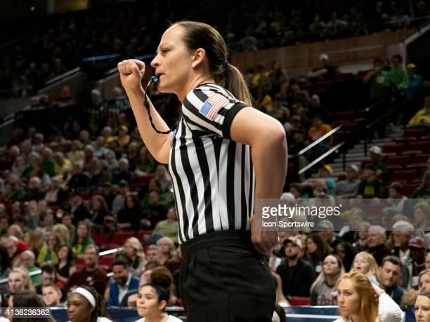NCAA womens basketball official during the NCAA Division I Women's Championship third round basketball game between Arizona State Sun Devils and the...