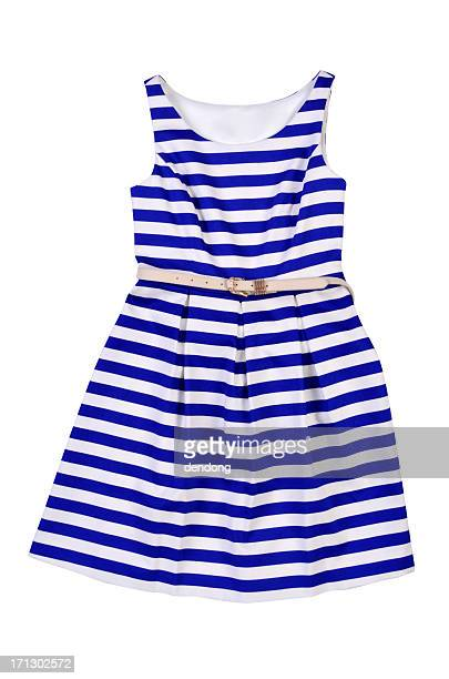 Women's blue and white striped dress