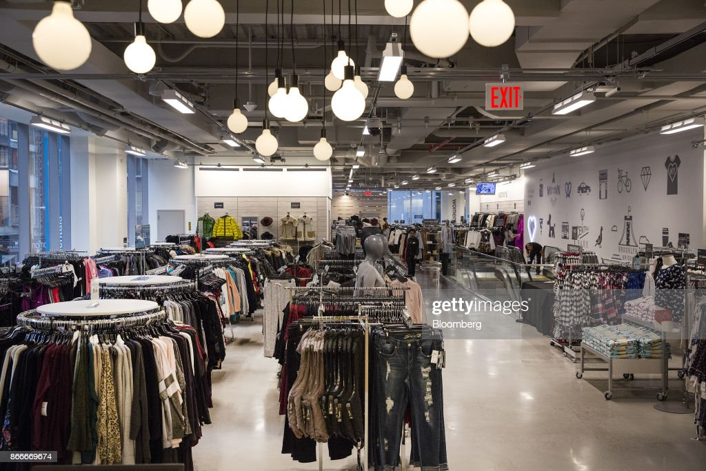 Women s clothing is displayed for sale inside a Nordstrom Rack store ... f02ffed26