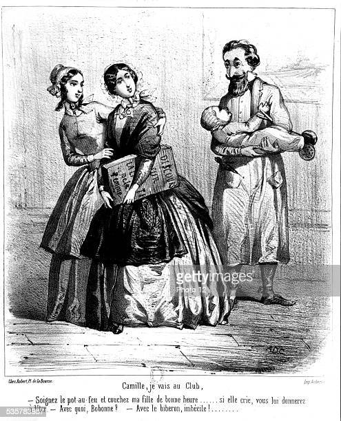 Women's club Camille I'm going to the club February 1848 France Paris National Library