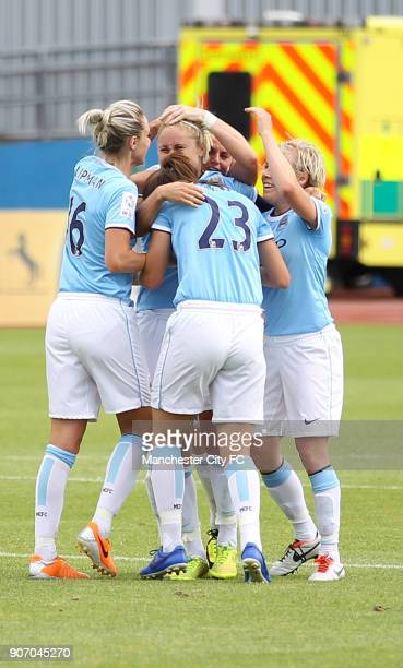 Women's Continental Cup Manchester City v Sunderland Etihad Athletics Pitch MCWFC celebrate Steph Houghtons Goal at the Etihad athletics pitch v...