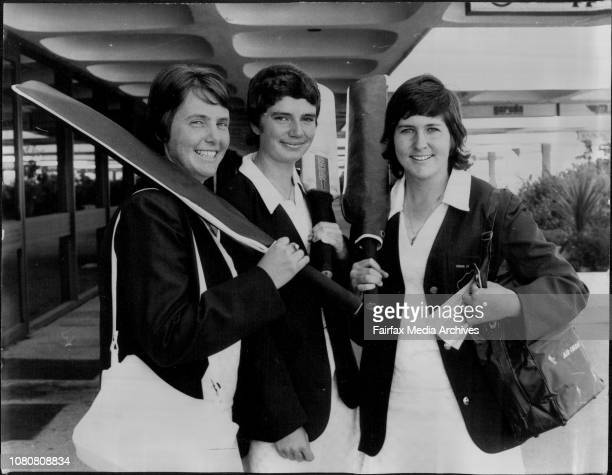 Women's Cricket Team Barbara Tryle of Melbourne Cecilia Wilson of Heckenberg near Liverpool and Debbie Martin from BankstownThe Australian Under 25...