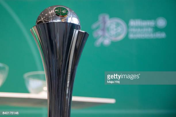 Women's DFB Cup trophy taken on occasion of Allianz Frauen Bundesliga Season Opening at Deutsches Fussballmuseum on August 28 2017 in Dortmund Germany