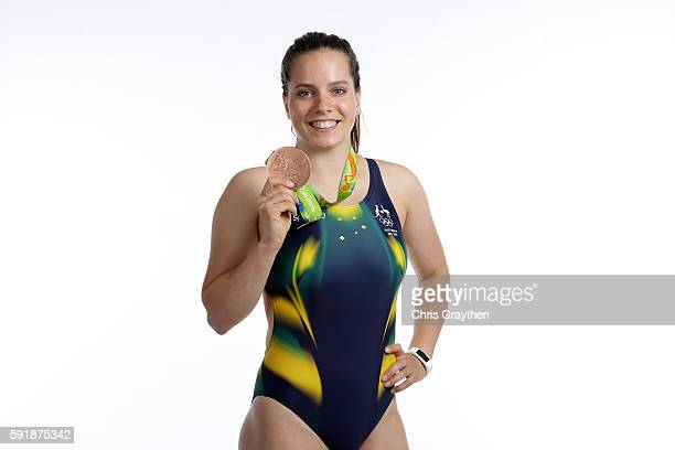 Women's Diving Synchronised 3m Springboard Bronze medalist Anabelle Smith poses during a portrait session on August 18 2016 in Rio de Janeiro Brazil
