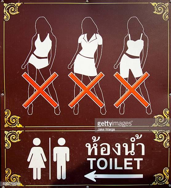 Women's dress code, Wat Arun, monument of the resurrected Thai Capital, Bangkok, Thailand