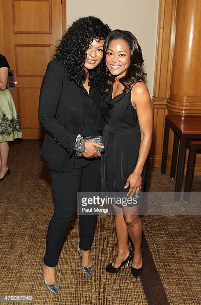 Women's Empowerment Honoree Beverly Bond and Robin Givens pose for a photo at the 2015 Women Of Distinction Awards Gala at Grand Hyatt Washington DC...