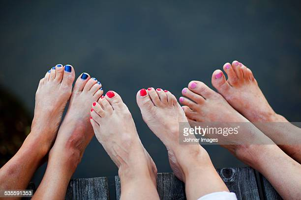 womens feet - pretty toes and feet stock photos and pictures