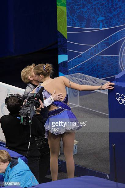Women's Figure Skating - Free Skate -- Pictured: Italy's Carolina Kostner reacts after her free program at the women's figure skating competition at...