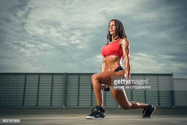 women`s fitness - body building stock photos and pictures