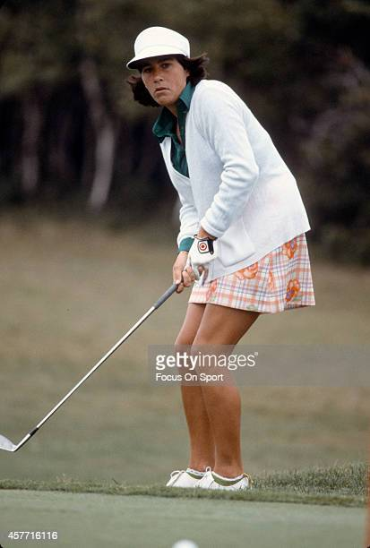 Women's golfer Amy Alcott in action during tournament play circa 1977