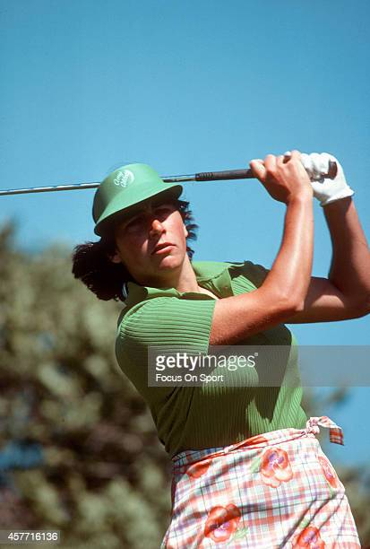 Women's golfer Amy Alcott in action during tournament play circa 1978